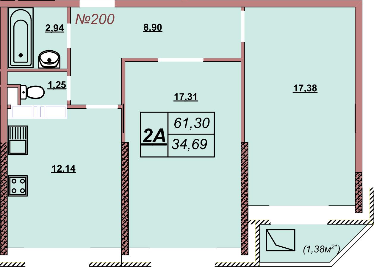Квартира 200