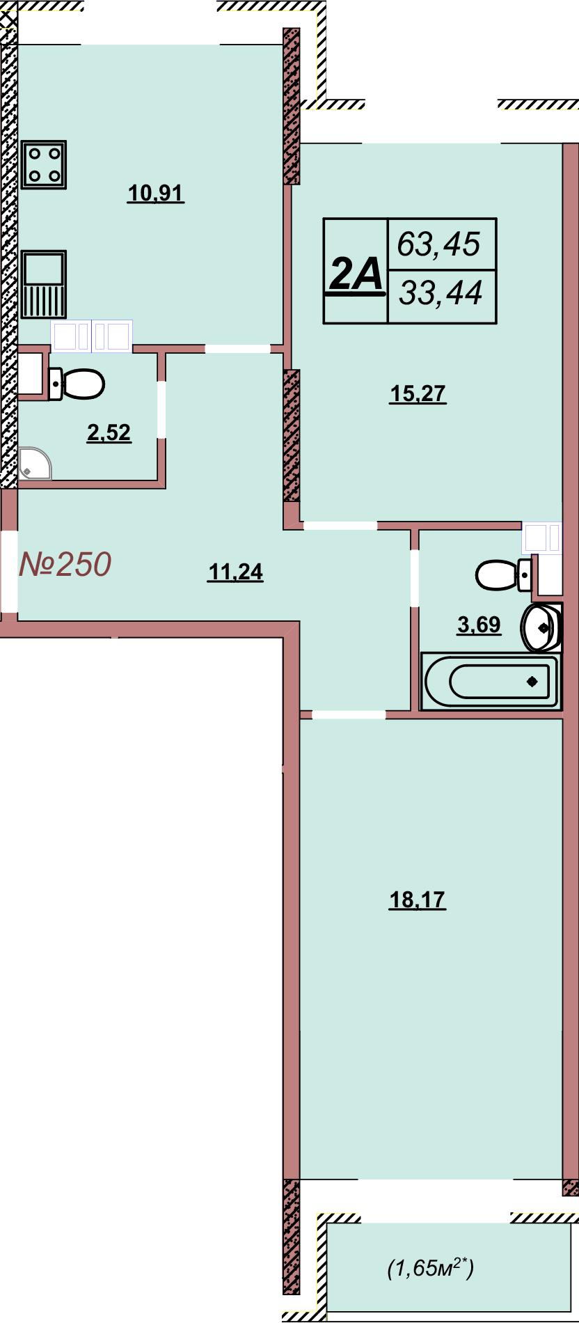Квартира 250