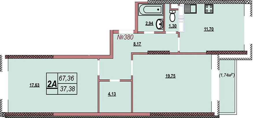 Квартира 380