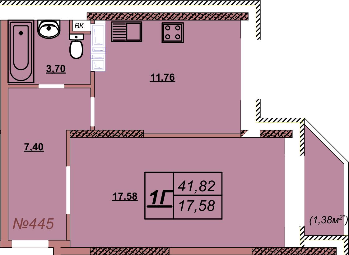 Квартира 445