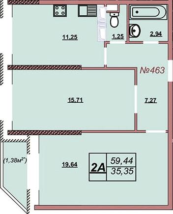 Квартира 463