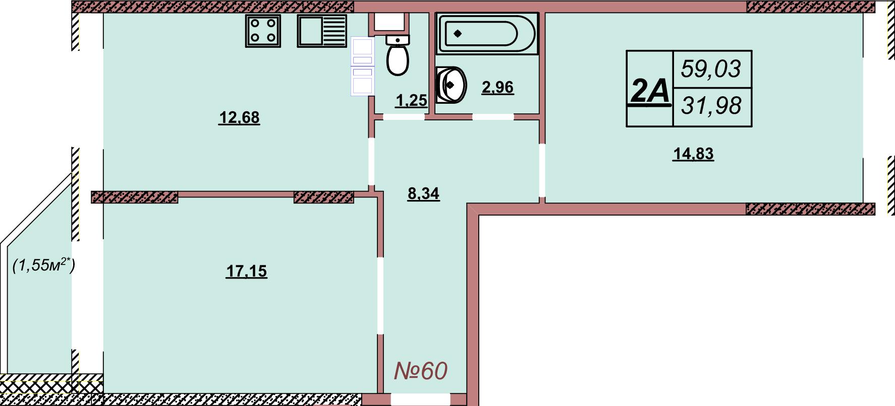 Квартира 60
