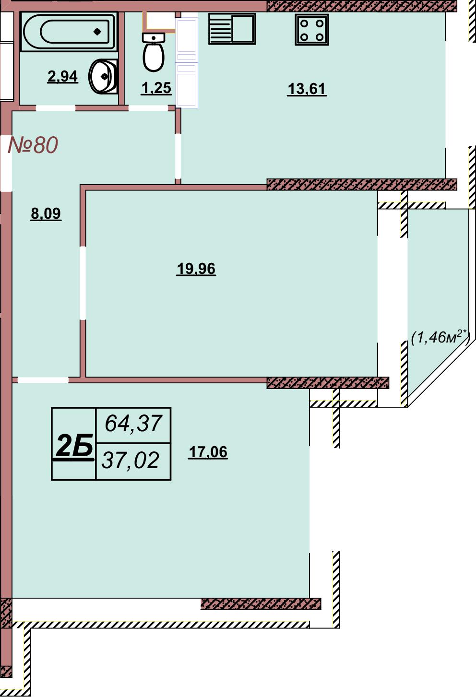 Квартира 80
