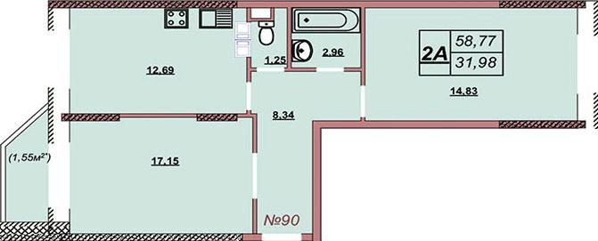 Квартира 90